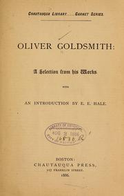 Cover of: Oliver Goldsmith | Oliver Goldsmith