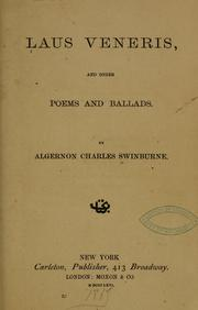Cover of: Laus Veneris by Swinburne, Algernon Charles