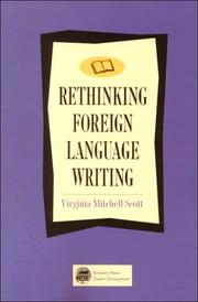 Cover of: Rethinking foreign language writing | Virginia Mitchell Scott