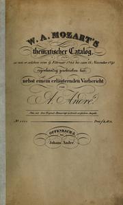W.A. Mozart's thematischer Catalog