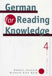 Cover of: German for reading knowledge | Hubert Jannach