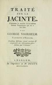 Cover of: Traité sur la jacinte by George Voorhelm