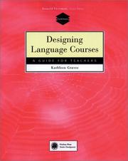 Cover of: Designing Language Courses | Kathleen Graves