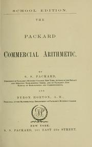 Cover of: The Packard commercial arithmetic. | S. S. Packard