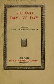 Cover of: Kipling day by day by Rudyard Kipling