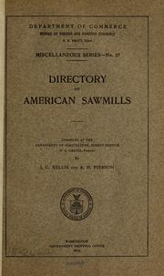 Cover of: Directory of American sawmills. | United States. Bureau of foreign and domestic commerce (Dept. of commerce)