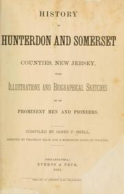 Cover of: History of Hunterdon and Somerset counties, New Jersey by James P. Snell