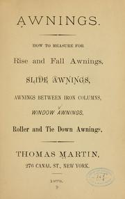 Cover of: Awnings. | Thomas Martin