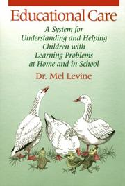 Cover of: Educational care by Melvin D. Levine