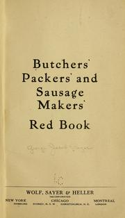 Cover of: Butchers
