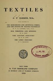Cover of: Textiles | A. F. Barker