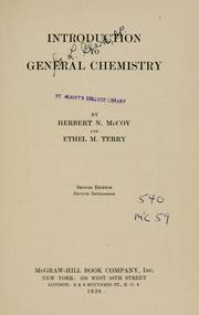 Cover of: Introduction to general chemistry | McCoy, Herbert Newby
