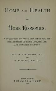 Cover of: Home and health and home economics | C. H. Fowler
