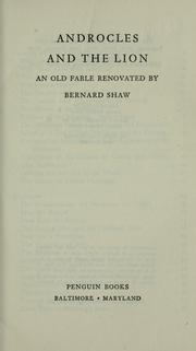 Cover of: Androcles and the lion | Bernard Shaw
