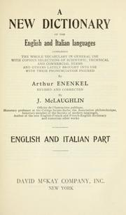 Cover of: A new dictionary of the English and Italian languages. | Arthur Enenkel