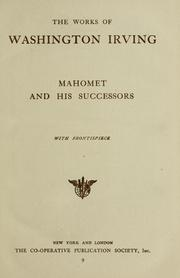 Cover of: Mahomet and his successors. | Washington Irving