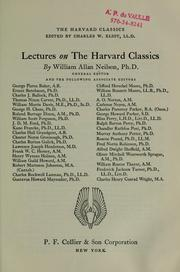 Cover of: Lectures on the Harvard classics | Neilson, William Allan