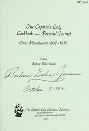 The Captain's Lady cookbook--personal journal