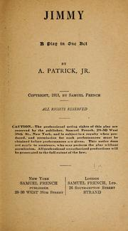 Cover of: Jimmy. | Patrick, A. Jr