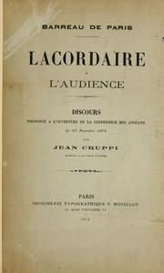 Cover of: Lacordaire à l'audience