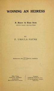 Cover of: Winning an heiress ... | F. Ursula Payne