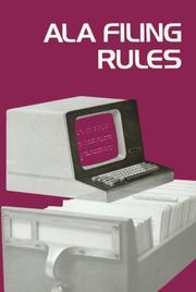 Cover of: ALA filing rules by American Library Association. Filing Committee.