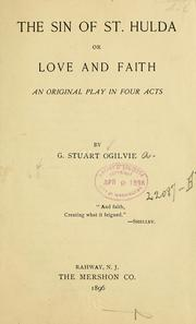 Cover of: The sin of st. Hulda ... | G. Stuart Ogilvie