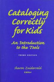 Cover of: Cataloging Correctly for Kids | Sharon Zuiderveld