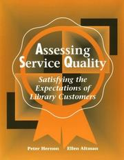 Cover of: Assessing service quality | Hernon, Peter.