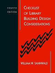 Cover of: Checklist of library building design considerations |
