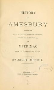 Cover of: History of Amesbury |