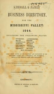 Cover of: Kimball & James' business directory for the Mississippi Valley, 1884 by