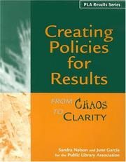 Cover of: Creating policies for results