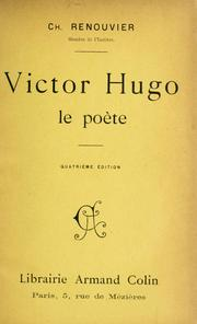 Cover of: Victor Hugo, le poète