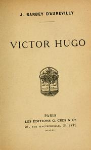 Cover of: Victor Hugo