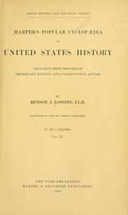 Cover of: Harper's popular cyclopædia of United States history