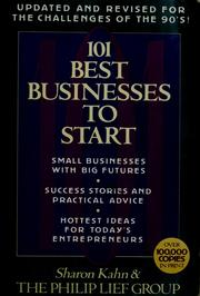 Cover of: 101 best businesses to start | Kahn, Sharon