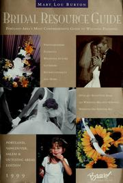 Cover of: 1999 bridal resource guide | Marion Clifton