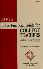 Cover of: 2002 tax & financial guide for college teachers and other college personnel | Donald T. Williamson