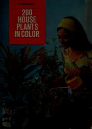 Cover of: 200 house plants in color | G. Kromdijk