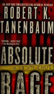Cover of: Absolute rage | Robert Tanenbaum