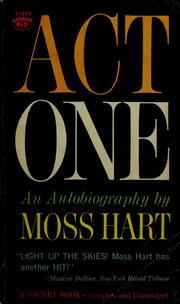 Cover of: Act one | Moss Hart