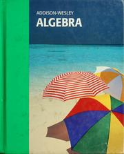 Cover of: Addison-Wesley algebra |