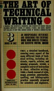Cover of: The art of technical writing: a manual for scientists, engineers, and students