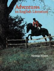 Cover of: Adventures in English literature |