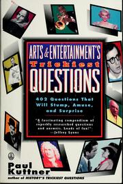 Cover of: Arts and entertainment's trickiest questions | Paul Kuttner