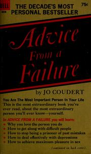 Cover of: Advice from a failure | Jo Coudert