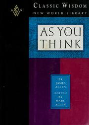 Cover of: As you think by James Allen