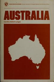 Cover of: Australia by Caroline Aldrich-Langen