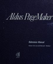 Cover of: Aldus PageMaker | [written by Janet Anderson ... [et al.] ; edited by Laura Brenner and Marianne Moon].